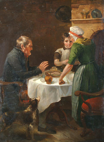 C. C. Coventry (British, 19th Century) A family meal.
