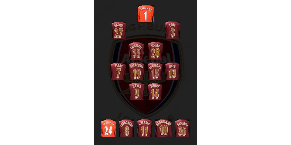 Full set of Arsenal Players shirts and shorts