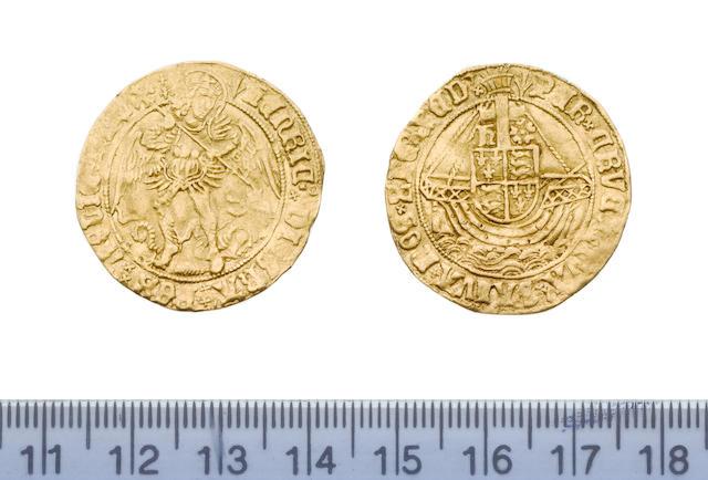 Henry VII, 1485-1509, Angel, 5.0, class V, St Michael standing slaying the dragon,