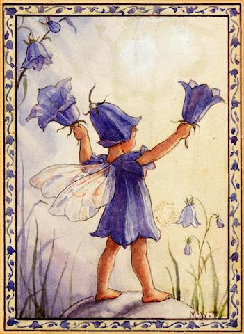 ORIGINAL ARTWORK TARRANT (MARGARET) Bluebell fairy