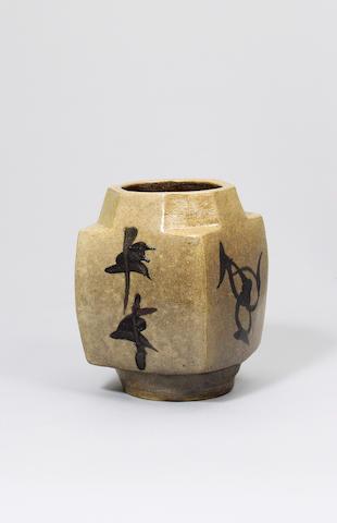 Hamada Shoji a square Vase Height 22.4cm (8 3/4in.)