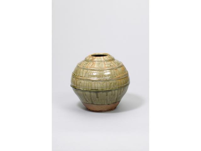 Hamada Shoji a large globular Jar Height 26.7cm (10 1/2in.)