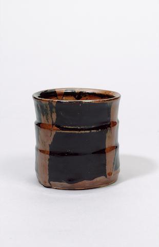 Hamada Shoji a Misuzashi or Water Jar Height 14.5cm (5 3/4in.)
