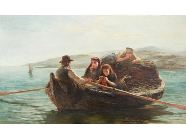 William F Vallance RSA (1827-1904) Peat boat, Shetland (possibly)