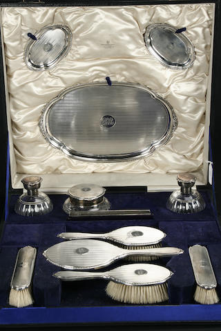 A comprehensive dressing table service by Adie Bros. Ltd, Birmingham predominately 1922