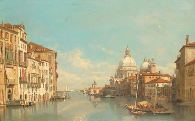 Francois Antoine Bossuet (Belgian, 1798-1889) The Grand Canal from the Accademia bridge.