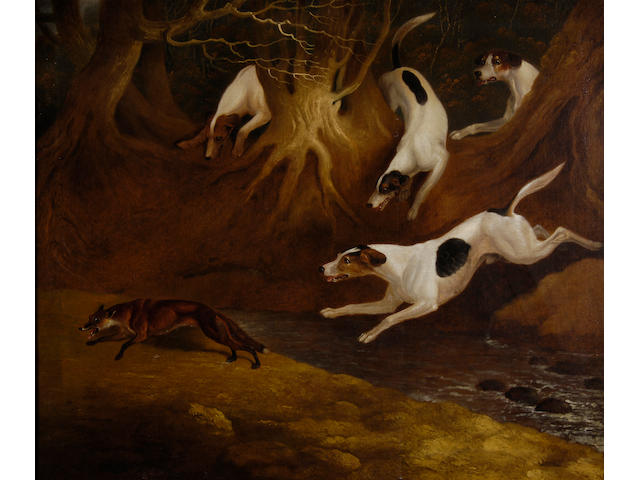 Edwin Cooper (1785-1833) Fox hounds in a chase 63.5 x 76cm (25 x 30in)