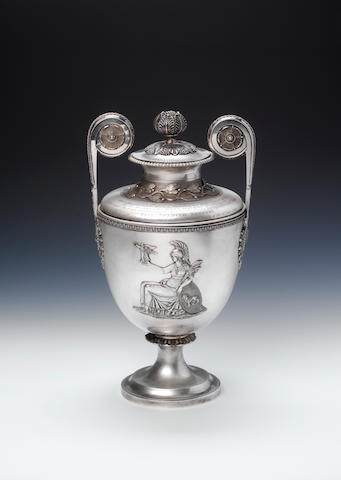 A George III silver  Lloyd's Patriotic Fund two-handled cup and cover, by Digby Scott and Benjamin S