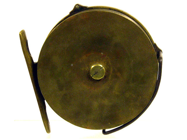 A Hardy all brass 1891 first model Perfect salmon fly reel 4½in
