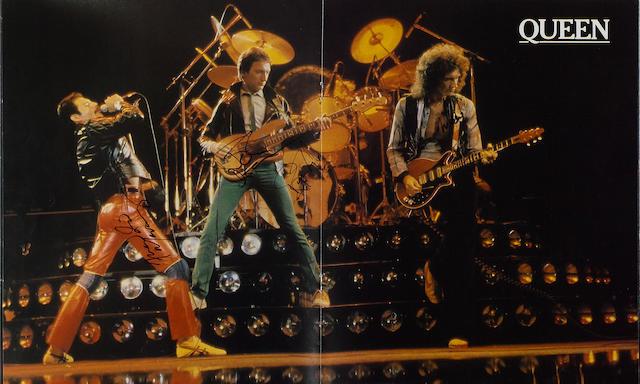 An autographed Queen 1980 European Tour programme,