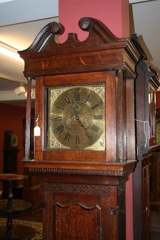 An oak and mahogany crossbanded long-case clock, John Smith, Chester, circa 1770,