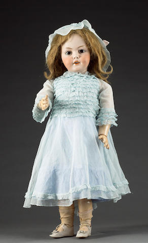 Rare Simon & Halbig 1279 bisque head doll, circa 1910