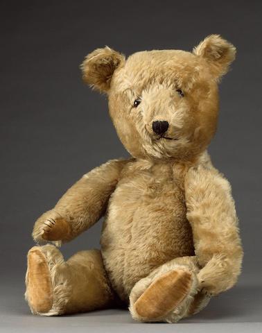 Large Chiltern Hugmee Teddy bear, English 1930's