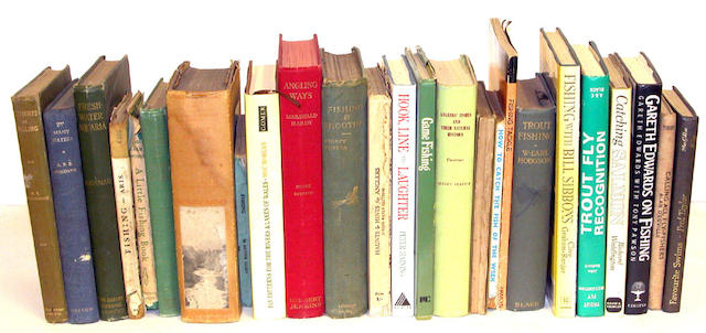 A large collection of twenty-five angling books