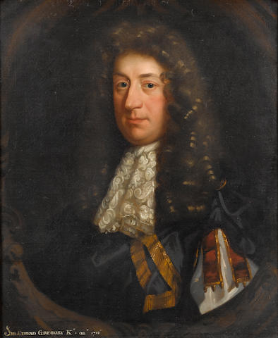 Circle of Sir Peter Lely (Soest 1618-1680 London) Portrait of a gentleman, said to be Sir Edward Gregory, 76.7 x 63.7 cm. (30¼ x 25 1/8 in.)