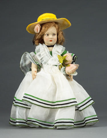Lenci cloth doll, Italian 1930's