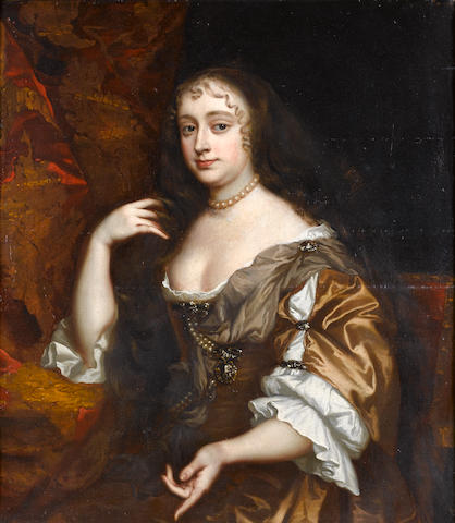 Circle of Sir Peter Lely (Soest 1618-1680 London) Portrait of a lady, said to be Lady Temple, seated half-length, in a 95.2 x 83.8 cm. (37½ x 33 in.)