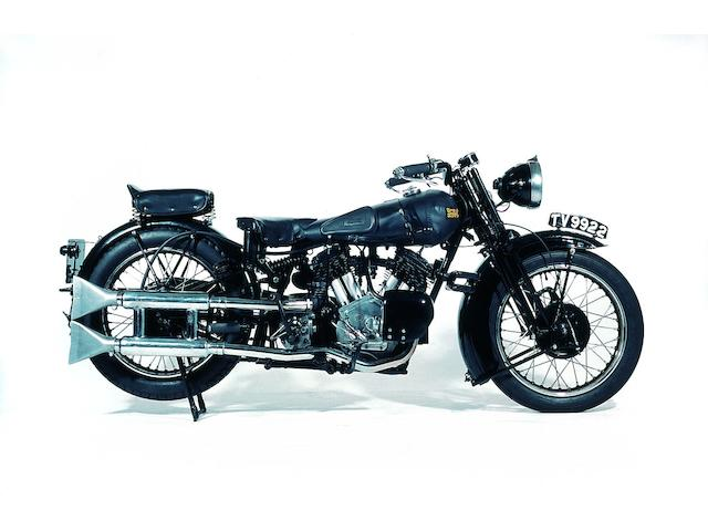 1934 Brough Superior 11-50  Frame no. H1347 Engine no. LTZ/D 34927S