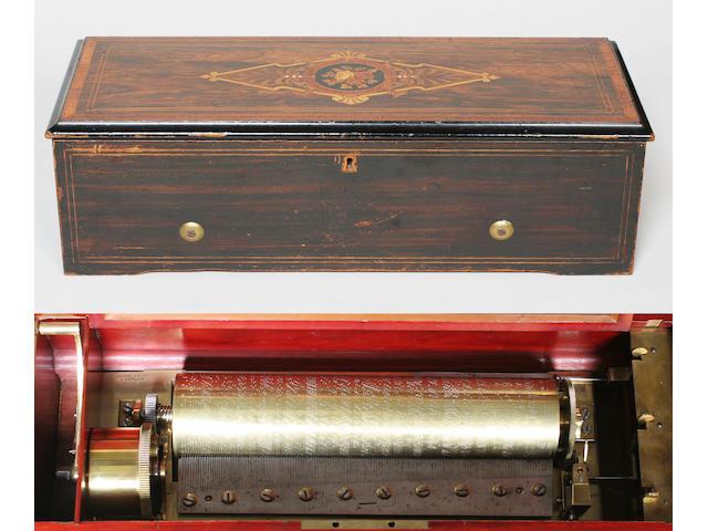A Nicole Freres overture musical box, circa 1866