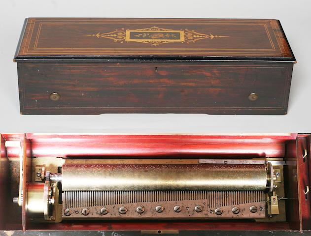 A B. A. Bremond piano forte musical box, circa 1868