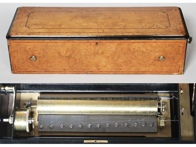A C Lecoultre mandolin 'Organcleide' musical box