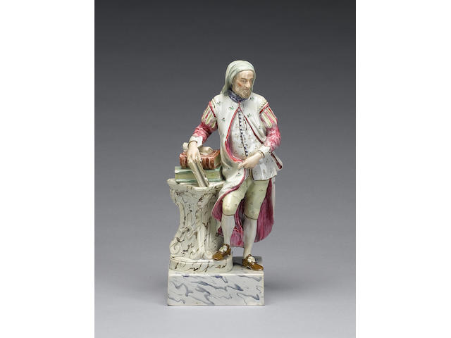 A Ralph Wood II pearlware figure of Chaucer, circa 1800