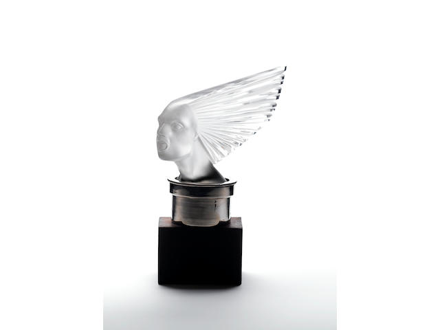 René Lalique 'Victoire' a Frosted and Polished Car Mascot, design 1928