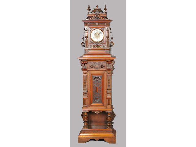 A Polyphon Style 63 hall clock/musical box