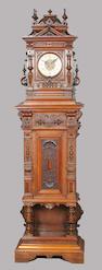 A Polyphon Style 63 hall clock/musical box