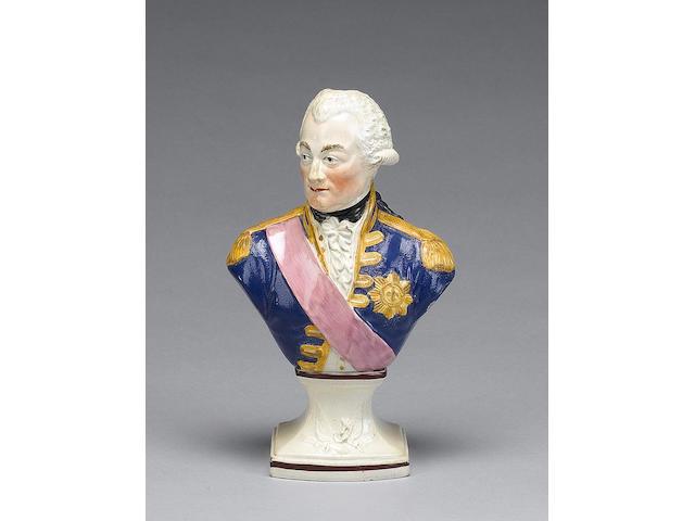 A Herculaneum bust of Admiral Lord Duncan, circa 1805