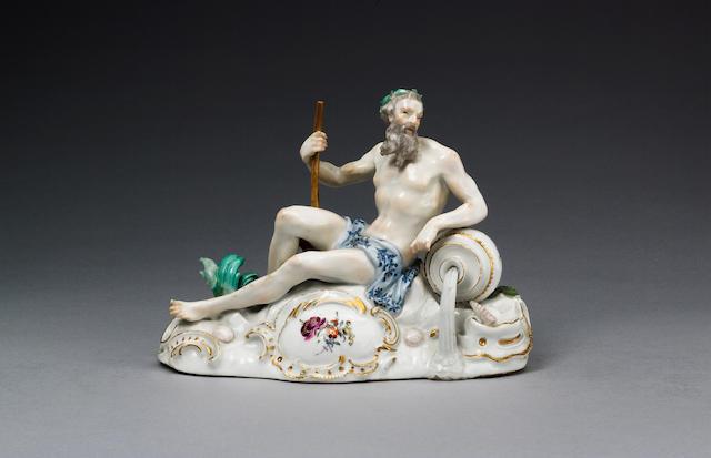 A Meissen figure of a river god circa 1750