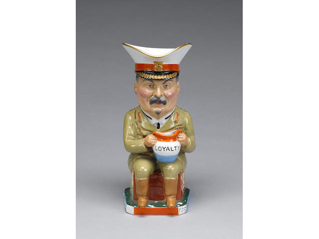 A Wilkinson 'General Botha' Toby jug, modelled by Carruthers Gould, circa 1918