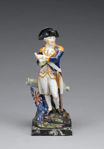 A pearlware figure of Admiral Lord Nelson, circa 1805