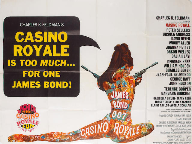 Casino Royale 1967 UK Quad