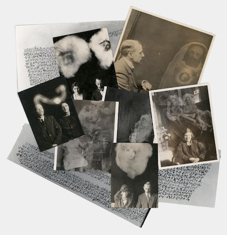 SPIRITUALISM - PSYCHIC PHOTOGRAPHY A collection of psychic photographs and 'skotographs' relating to Charles A. Aeschimann and the Falconer Brothers, c.1920s-70s
