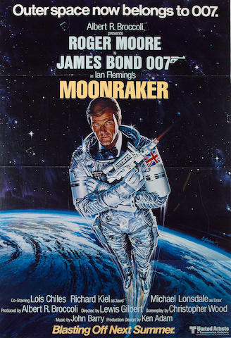 Sixteen James Bond related film posters,