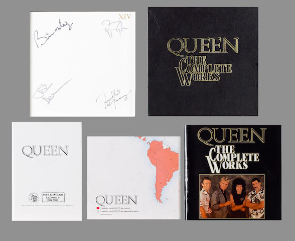 Autographed Queen box set, 'The Complete Works', 1985,