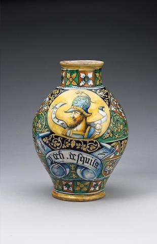 A large Faenza drug jar circa 1550