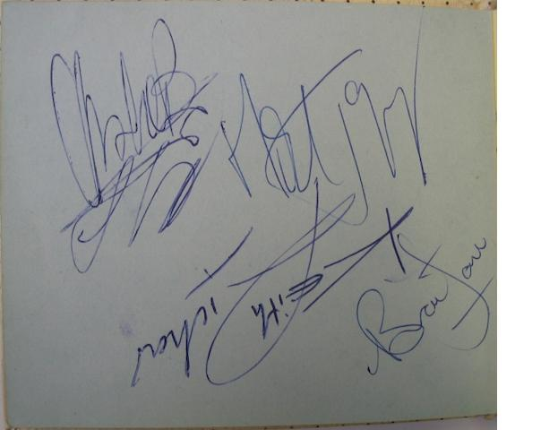 An autograph book containing signatures of the Stones and others,  1960s,