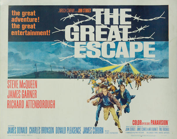 The Great Escape, 1963  US half sheet movie poster,  22 x 28 in.