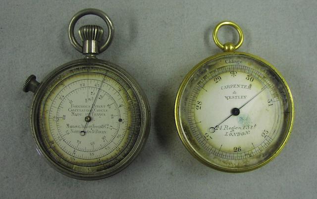 A Bouchers Patent Calculating circle 2in(5cm)diam, each. 2
