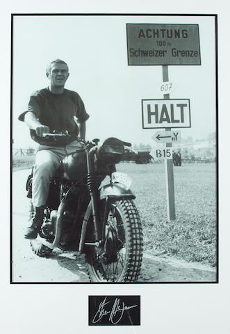 A Steve McQueen photoprint,