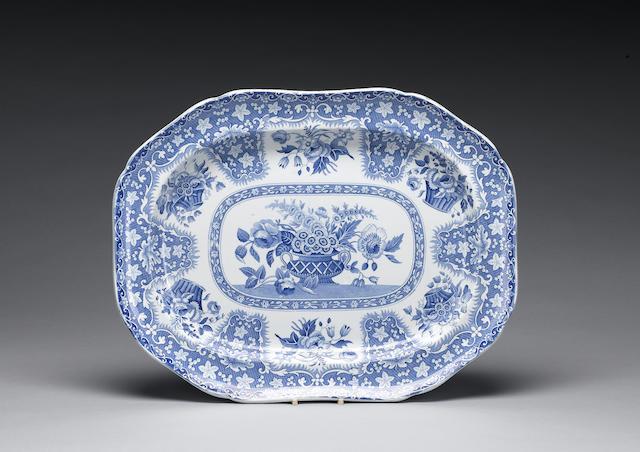 A Spode 'Filigree' meat plate, circa 1825