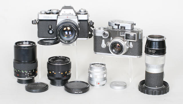 Leica M3 camera and lenses