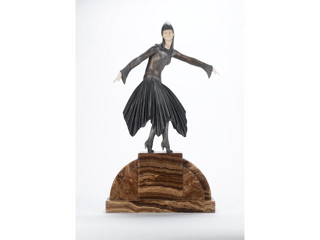 Demetre Chiparus `Starlight' A Large Patinated Bronze and Ivory Figure, circa 1925