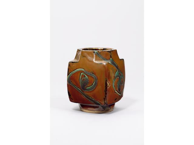 Hamada Shoji a square Vase Height 21.5cm (8 1/2in.)