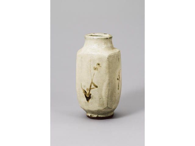 Hamada Shoji a square flower Vase Height 29.5cm (11 5/8in.)