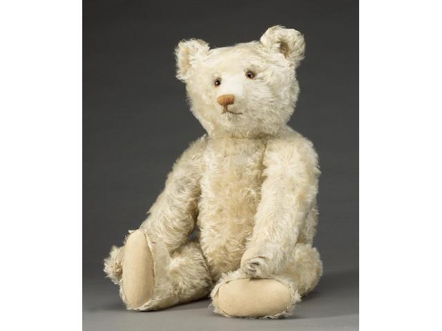 Large rare white Steiff Teddy bear, German 1919