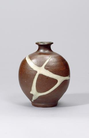 Hamada Shoji a Bottle Vase Height 22cm (8 5/8in.)