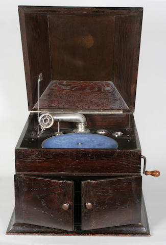 A Thorens internal horn gramophone